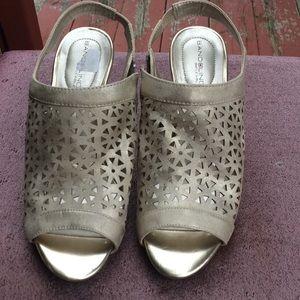 Bandolino Shoes - Dainty golden slippers